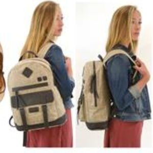 Sherpani Ethos Indie Backpack Canvas Leather